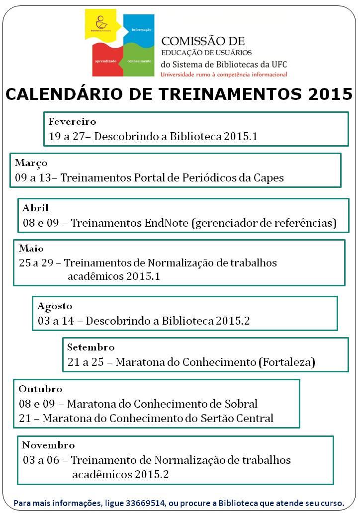 Imagem Calendario Treinamento 2015