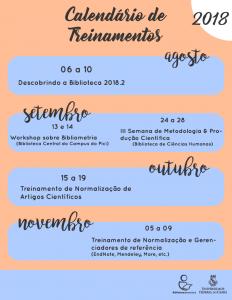 Calendário de Treinamentos 2018.2