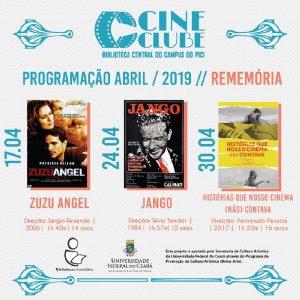 Programação Cineclube BCCP Abril