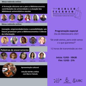 Card com foto dos palestrantes e programação do evento